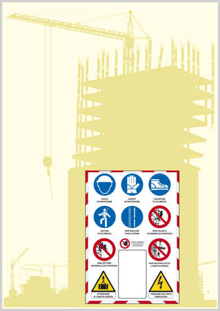 sign safety italian law Stock Vector - 9765954