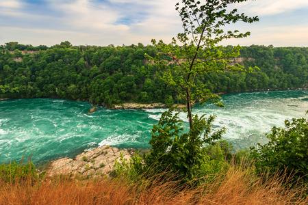 niagara falls city: Niagara River Stock Photo