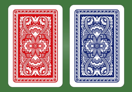 decorative card symbols: Playing Card Back Designs