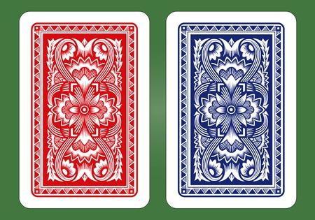 Spielkarten Zurück Designs Standard-Bild - 30824733
