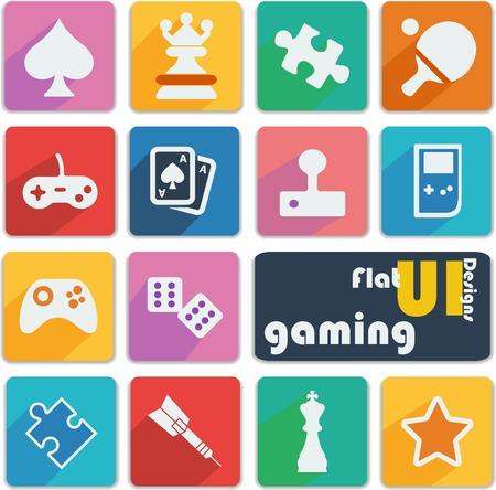 Flat UI design icons - Gaming