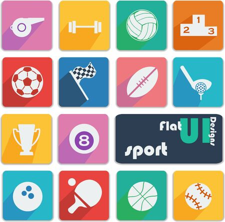 Flat ui design icons - Sport   Vector