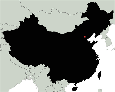 Highly Detailed China Silhouette map. Stock Vector - 122606624