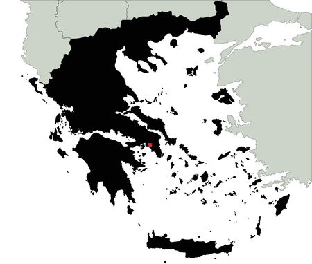 Highly Detailed Greece Silhouette map.