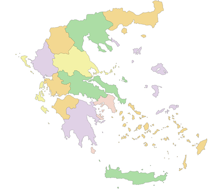 Greece - Highly detailed editable political map.