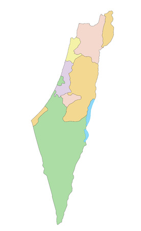 Israel - Highly detailed editable political map.