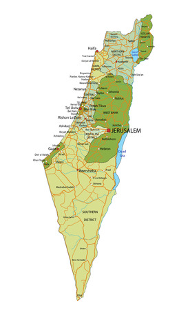 Highly detailed editable political map with separated layers. Israel. Imagens - 122617715