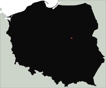 Highly Detailed Poland Silhouette map. Illusztráció