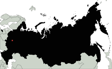 Highly Detailed Russia Silhouette map. Illustration