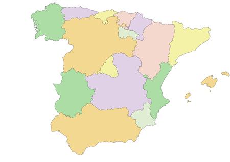 Spain - Highly detailed editable political map. Иллюстрация