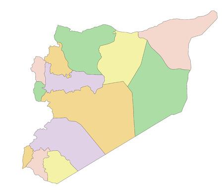 Syria - Highly detailed, editable political map.