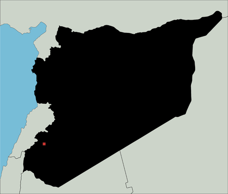 Highly Detailed Syria Silhouette map.
