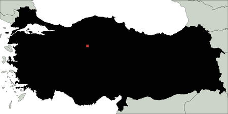 Highly Detailed Turkey Silhouette map. Illustration