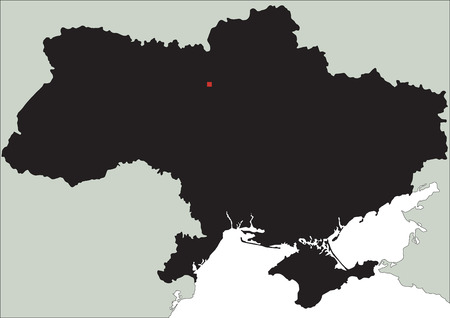 Highly Detailed Ukraine Silhouette map.