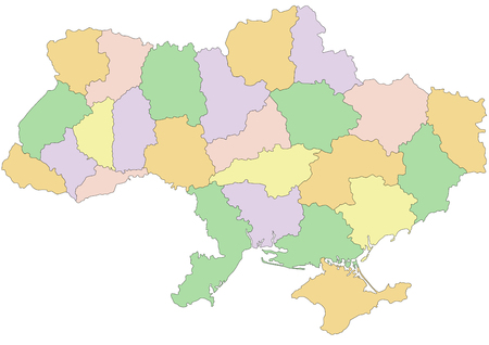 Ukraine - Highly detailed editable political map. Ilustração
