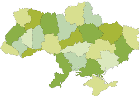 Highly detailed editable political map with separated layers.  Ukraine. Foto de archivo - 122716513