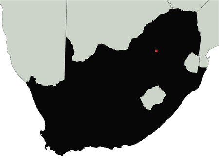 Highly Detailed South Africa Silhouette map.
