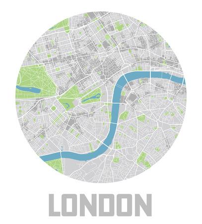Minimalistic London city map icon. Ilustração