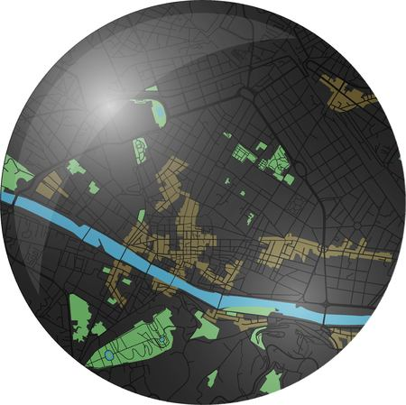 Florence vector map button with dark colors.
