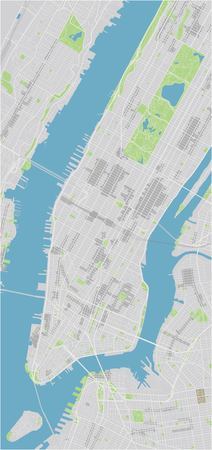 Vector city map of New York with well organized separated layers. Illustration