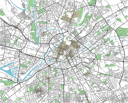 Colorful Manchester vector city map Иллюстрация