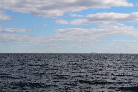 superior: Sky on Lake Superior Stock Photo