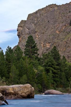 cache la poudre river: Profile Rock above the Cache La Poudre River.