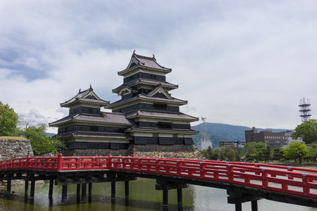 Matsumoto Castle, Matsumoto, Japan. Matsumoto Castle is one of the most complete and beautiful among Japans original castles. It is a