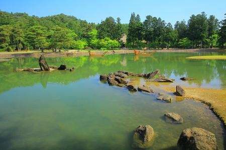 the world heritage: World Heritage hiraizumi-motsu-JI oizumis pond Editorial