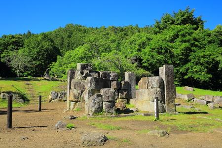 the world heritage: World Heritage site Iwate Kamaishi-shi ?? blast furnace ruins Stock Photo