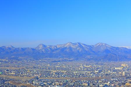 The ?u mountains and Morioka city