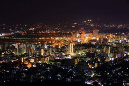日本: Night view of Morioka