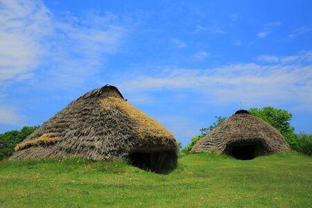 Lieu historique désigné national kabayama ruins pit-House Banque d'images - 66219323