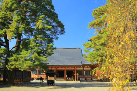 Hiraizumi patrimoine mondial laisse motsu-JI Banque d'images - 68397317