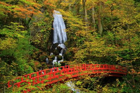 Hachiman-Taira laisse une cascade de fudo Banque d'images - 68430069