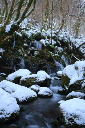 water falls: Winter from subsoil water falls