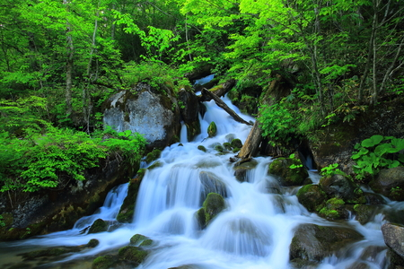 Waterfalls of flute pieces