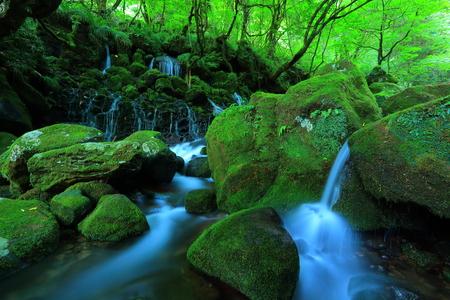 Akita Prefecture Xia Yuan falls subsoil water Stock Photo