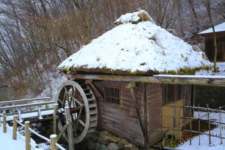 showa: Village in winter Stock Photo