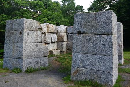 World Heritage ?? blast furnace ruins Stock Photo