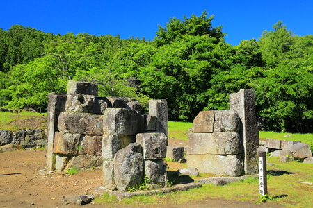 World Heritage sites in Kamaishi city ?? blast furnace ruins Editorial