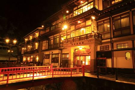 showa: Ginzan Onsen in winter