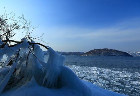 Winter 10 k. splinter Stock Photo
