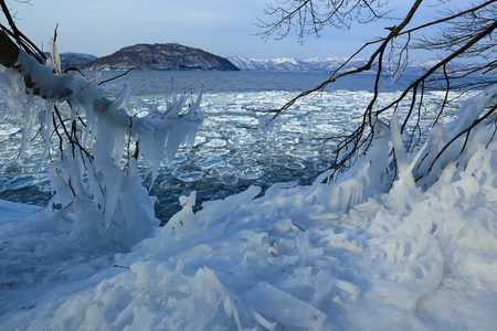 Lake towada winter