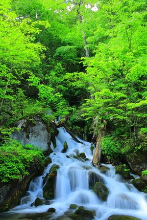 Waterfalls of fuefuki Stock Photo
