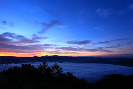 Sea of clouds in Tono-Shi Stock Photo