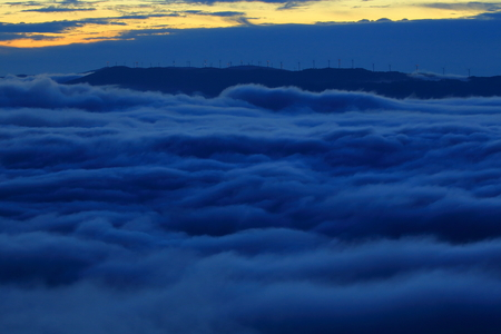 Sea of clouds of the Tono basin