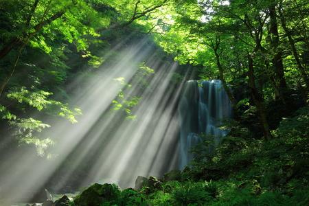 Summer kameda fudo waterfall Stock Photo