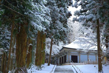winter hiraizumi in chuson-ji Temple Stock fotó