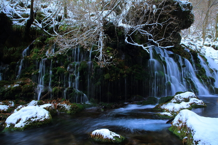 Winter from subsoil water falls